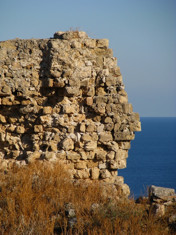 Ruins and face