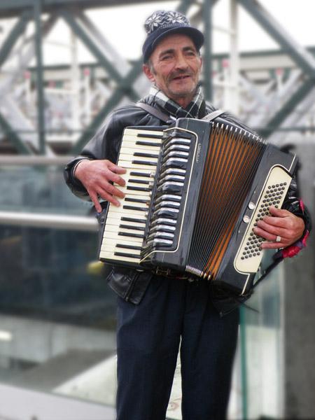Romanian Gypsy Accordionist