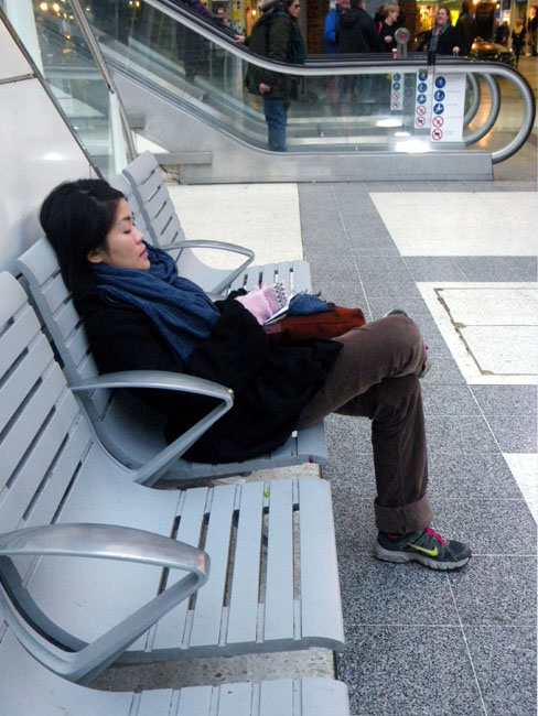 Dozing Chinese Girl