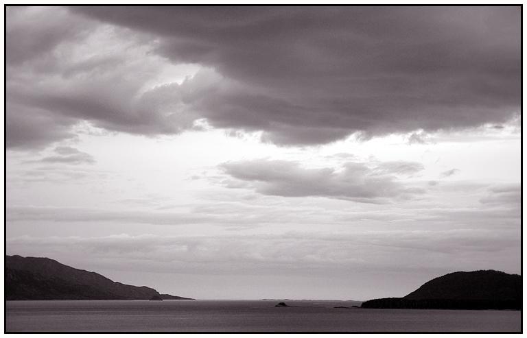 Rainclouds in the Førde fjord