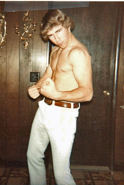Hulk Hogan??? ( Me age 16 doing my best to top  Arnold) 1974