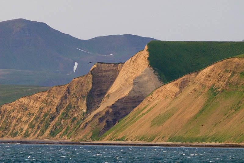 Cliffs at Commander Bay, Bering Island