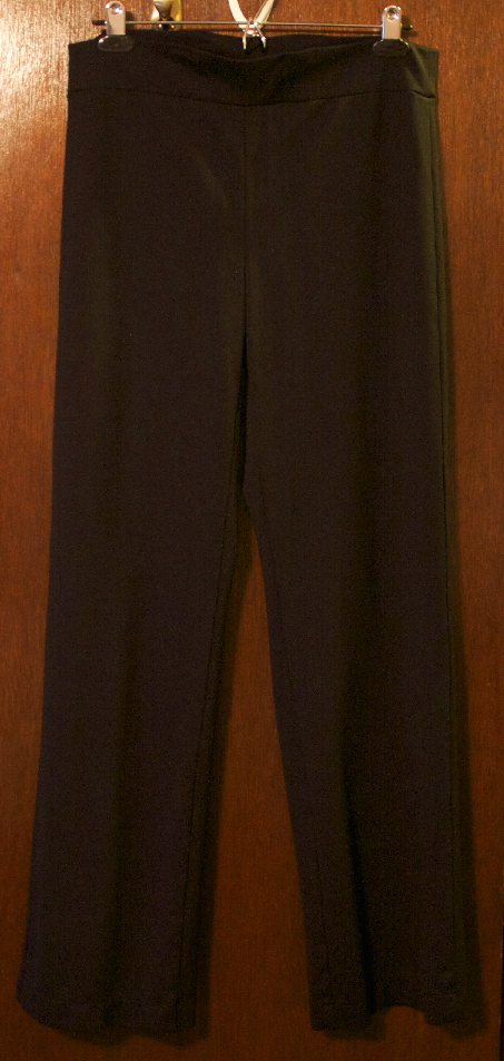 Linda Stretch Pants made from black rayon ponte