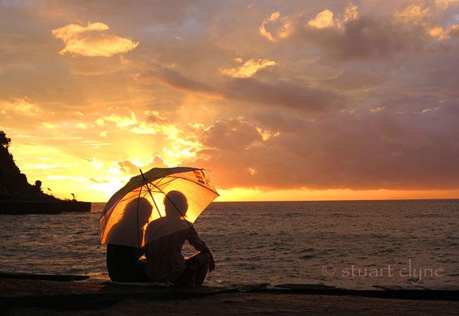 Rainy Sunset in Lombok
