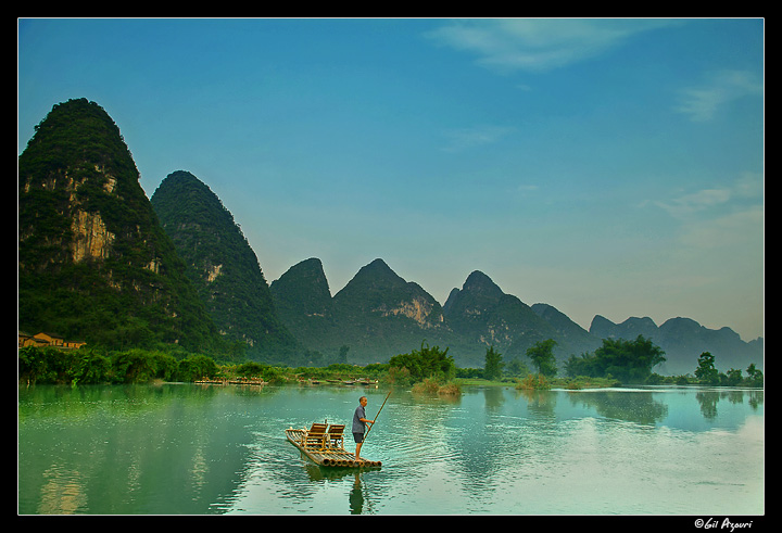 First light on the Yulong River