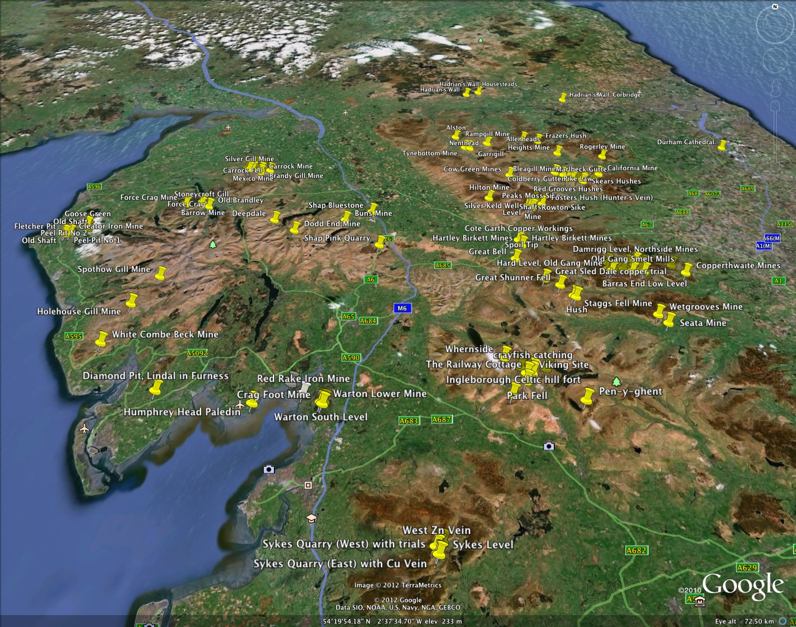 Yorkshire, Durham and Cumbria localities overview