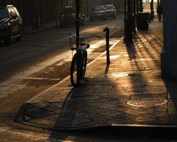 Bike on a Street Corner
