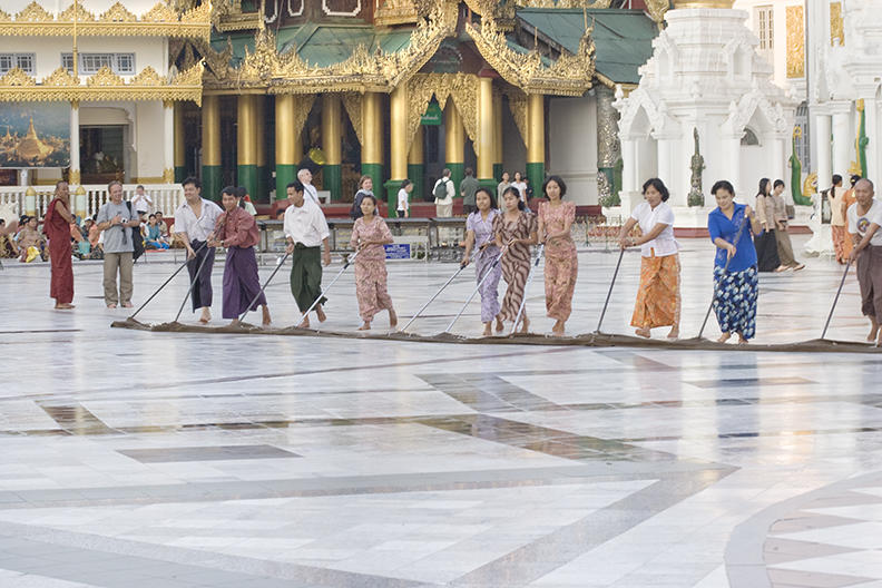 burma, yangon: Schwedagon Temple