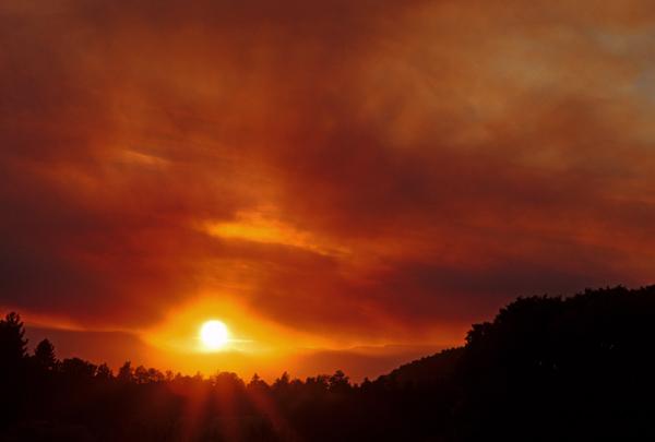 Smokey sunset, Red Rock Loop Road, Sedona, AZ