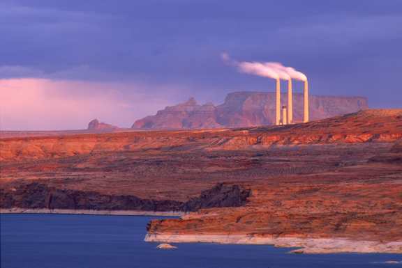 (EN9) Navajo coal powered electrical generating plant with sulfur dioxide scrubbers, Page, AZ