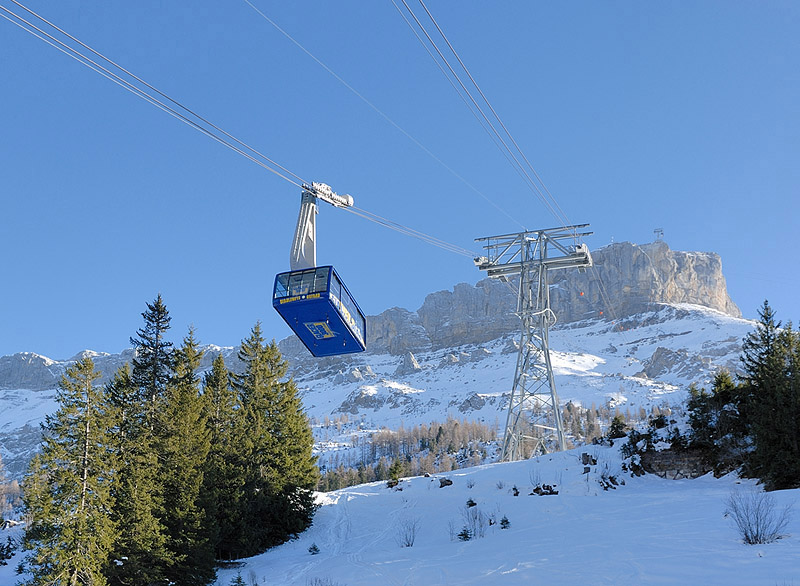 The Gondola from Col du Pillon to Cabane