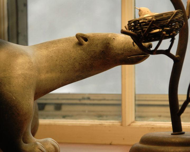 Curiosity Killed the Polar Bear?<br><font size=3>ds20070130_0025aw Bear-Bird Window.jpg</font>