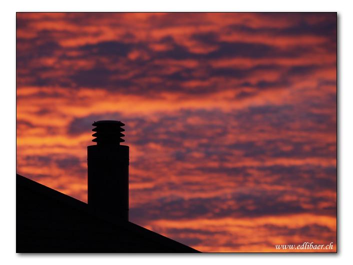 Fire in the sky / Feuer im Himmel
