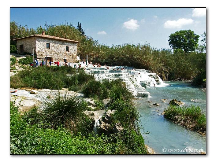 Thermen / thermal springs in Saturnia Toskana/Tuscany