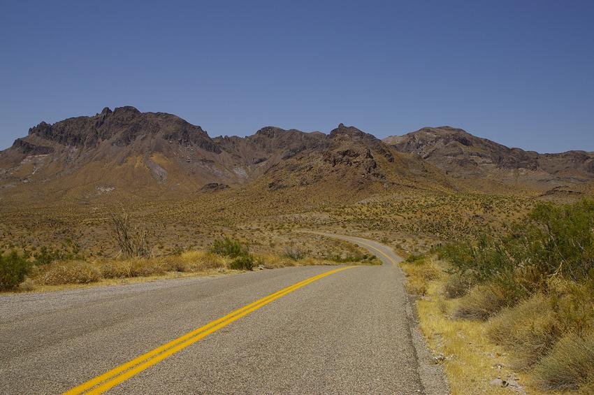 Black Mountains near the California state border