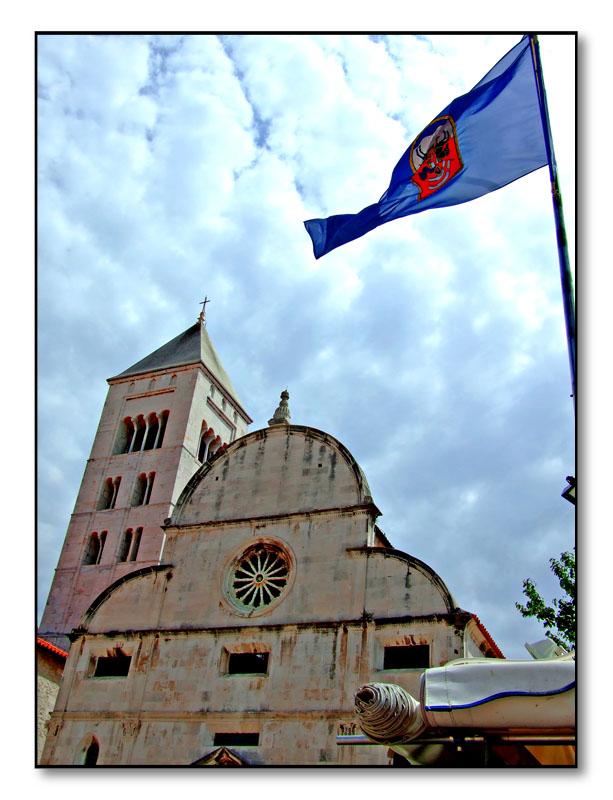 Zadar church & flag