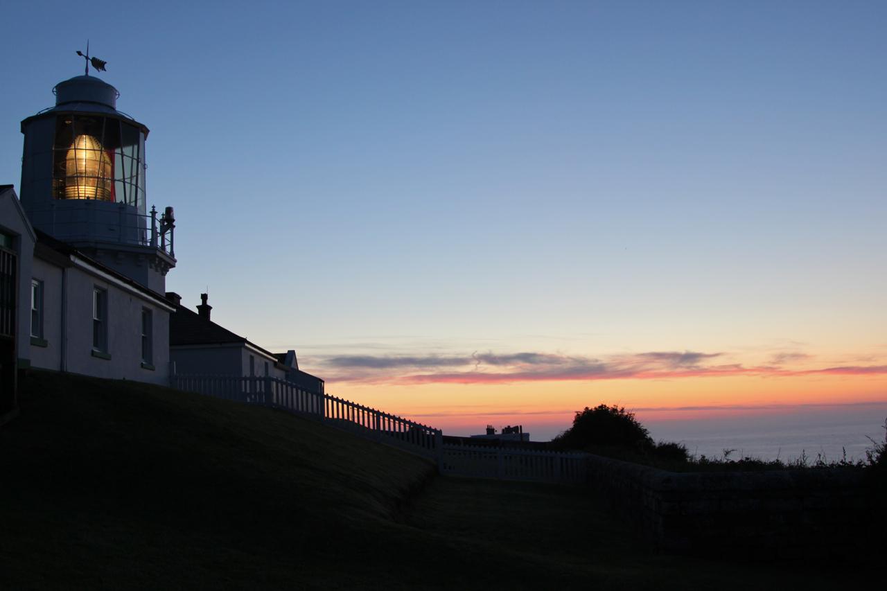 Whitby Lighthouse at dusk