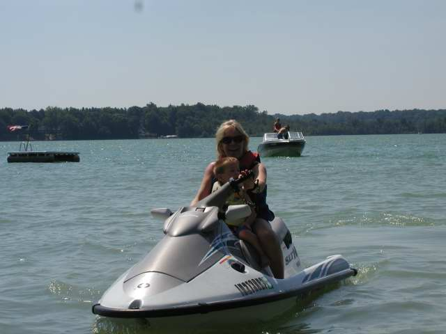 4th of july- joeys first waverunner ride