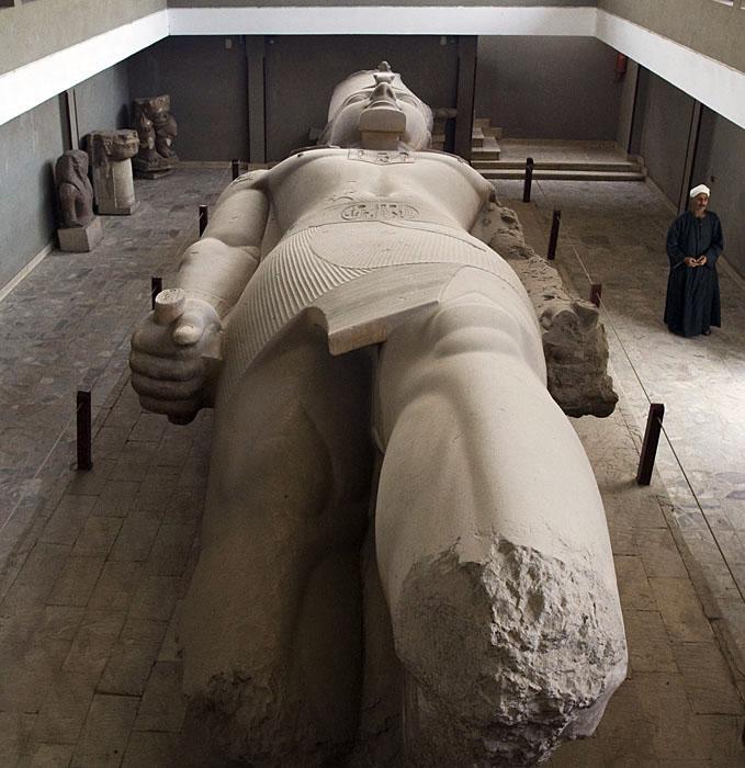 Ramses II at Memphis museum 0591
