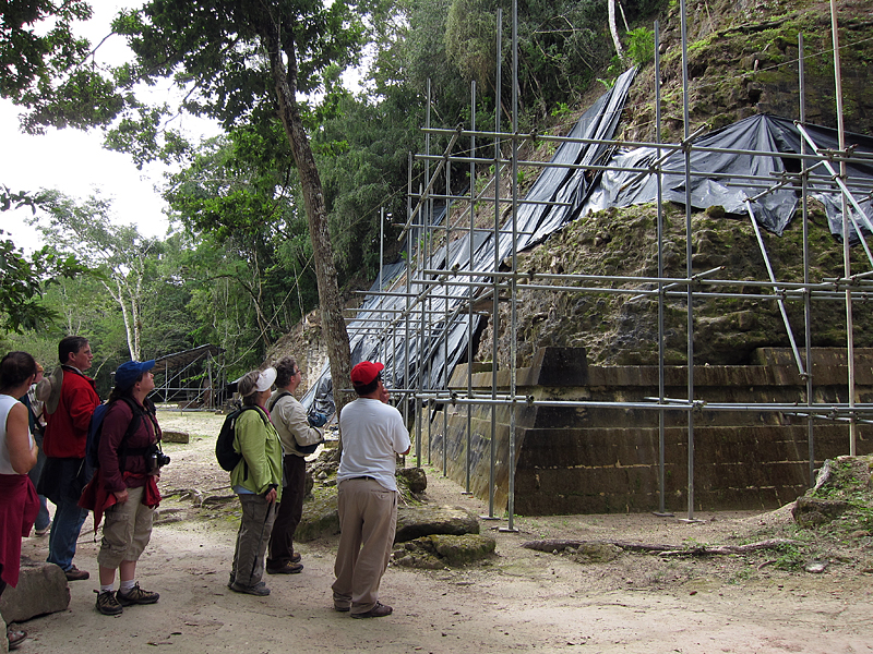 ongoing excavation at Temple IV 1247