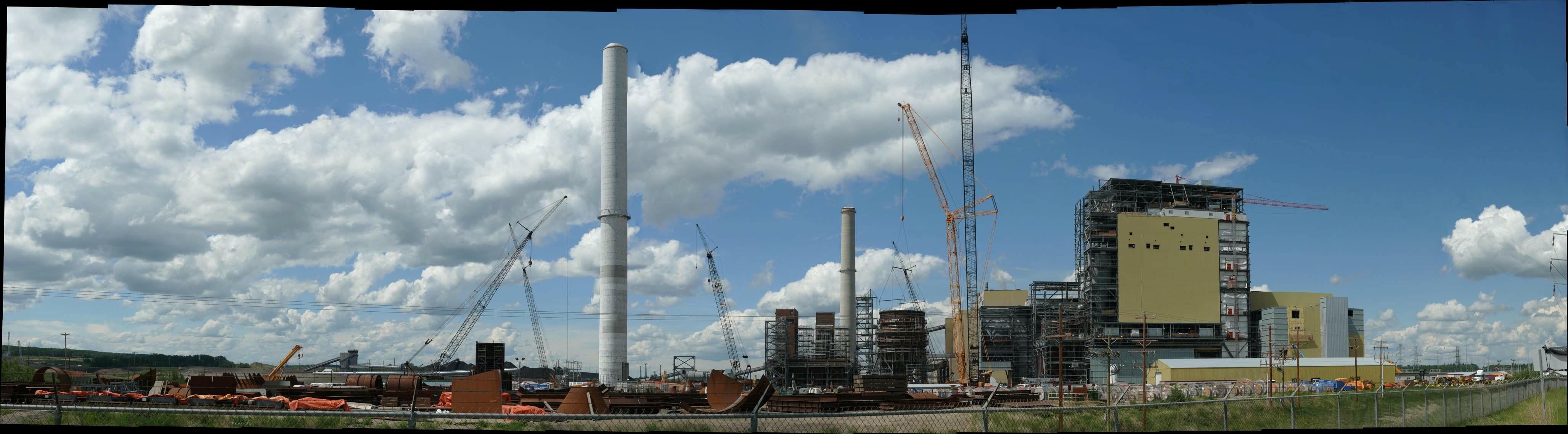 Keephills power plant under construction