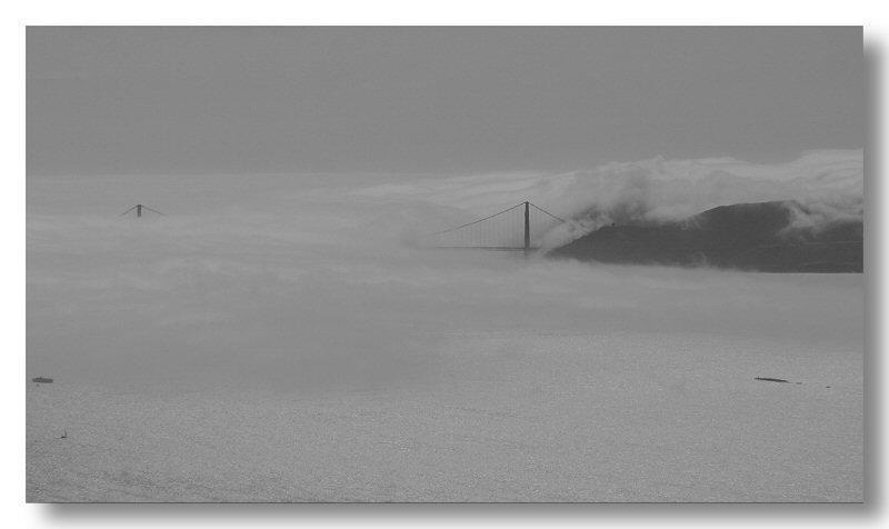 Gate Under Fog