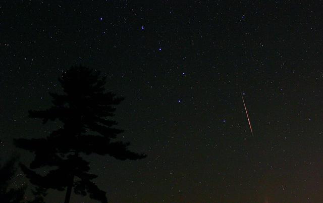 Perseid Meteor Slashing Through The Big Dipper