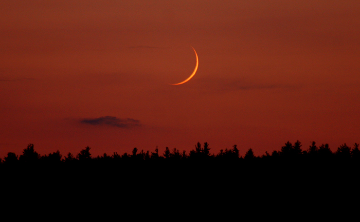 Virgin Moon  at Sunset