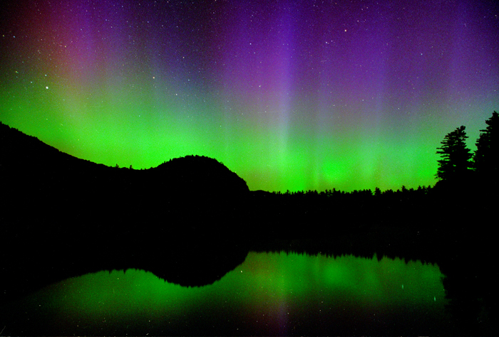 Northern Lights over Echo Lake, North Conway, NH (a)