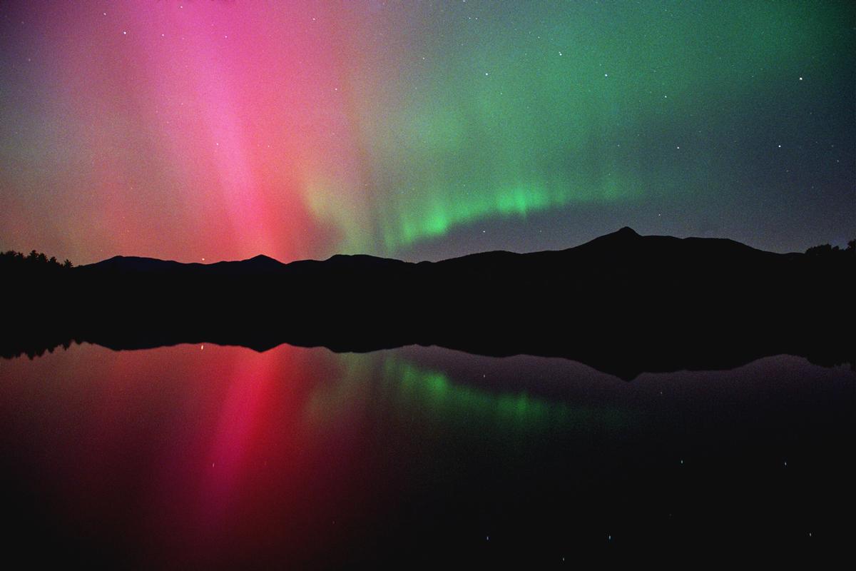 Northern Lights and Big Dipper over Chocorua Lake