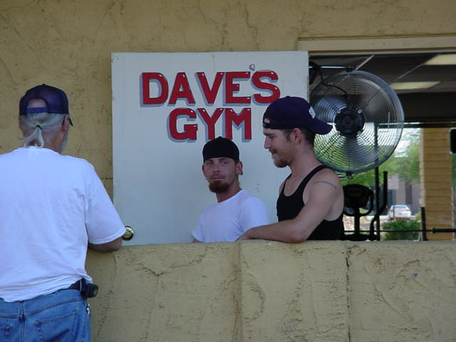 Hanging out at Daves Gym