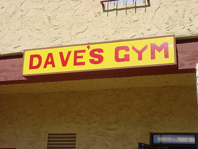 Daves Gym Mesa<br>phone (480)-649-3715<br>gone but not forgotten