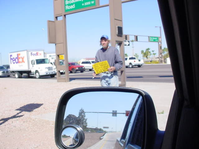 homeless 52nd Street<br>and Broadway in Phoenix