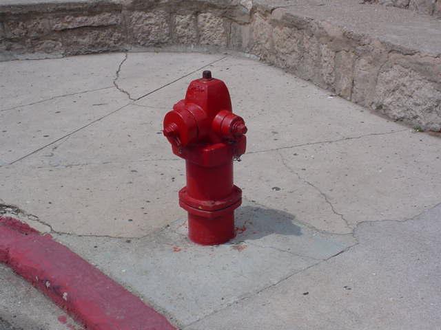 fire hydrant<br>alone in<br>Jerome Arizona