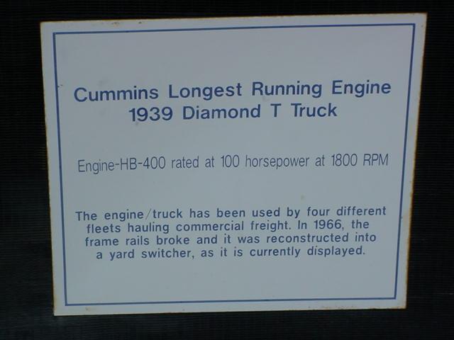 Cummins longest<br>running engine