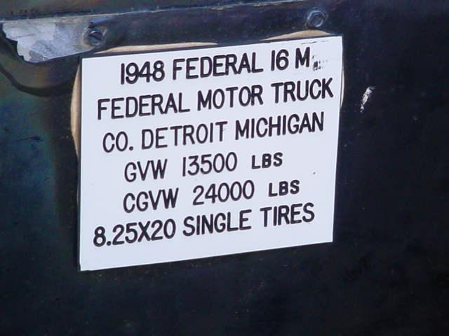 1948 Federal 16 M