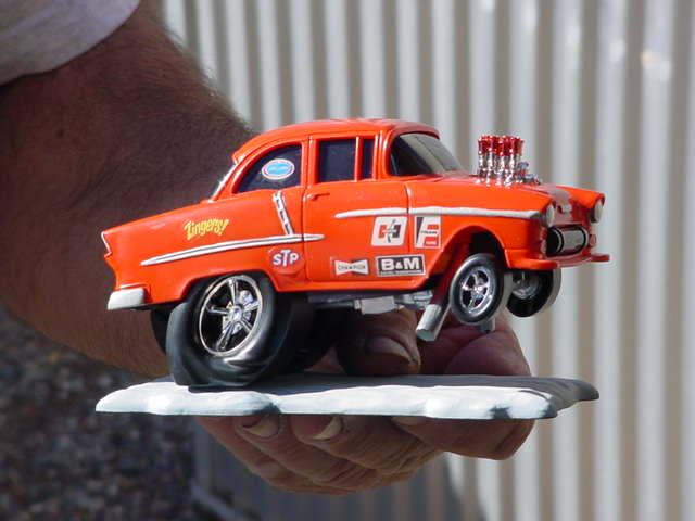 orange 1955 Chevy