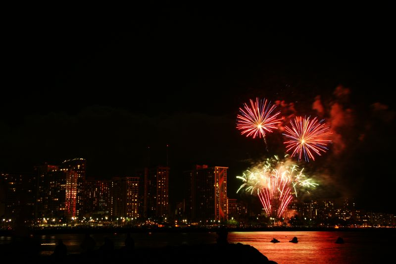 Fireworks at the Hilton