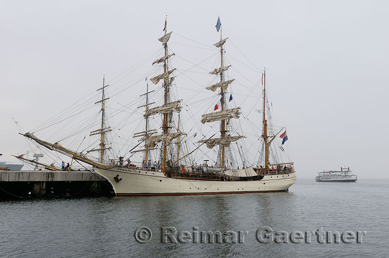 Europa at Halifax Harbour for the Tall Ships Nova Scotia Festival 2009 with paddleboat tour boat