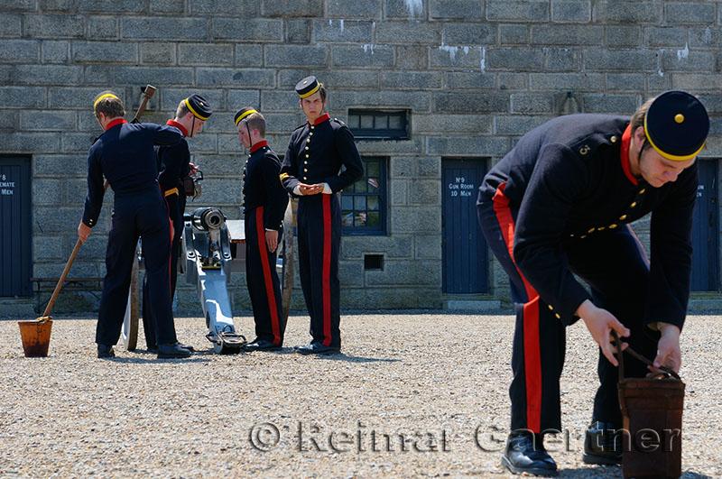 Royal artillery drill at the Citadel in Halifax Nova Scotia