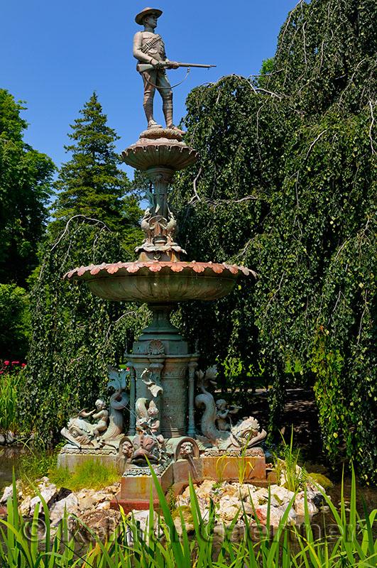 Soldiers Boer War Memorial Fountain at historic Halifax Public Gardens