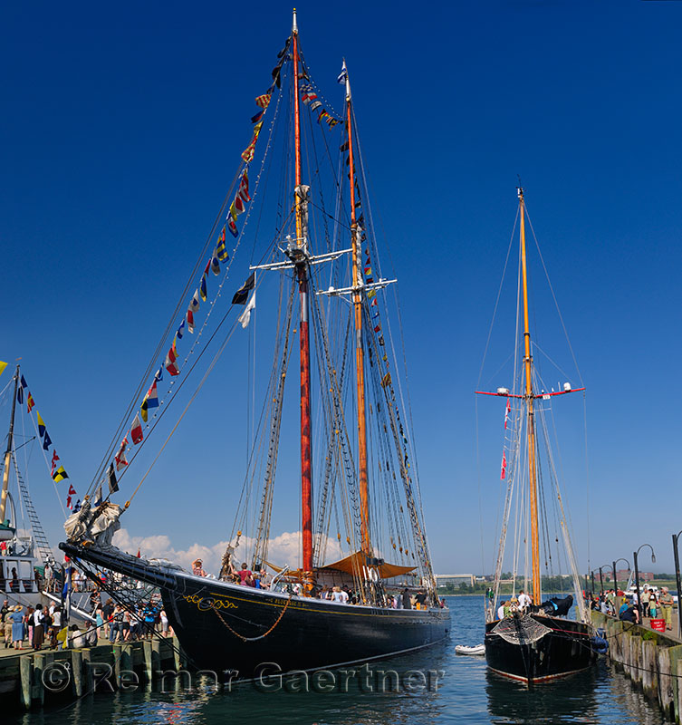 Bluenose II sailboat at Halifax Harbour Tall Ships Festival 2009 Nova Scotia