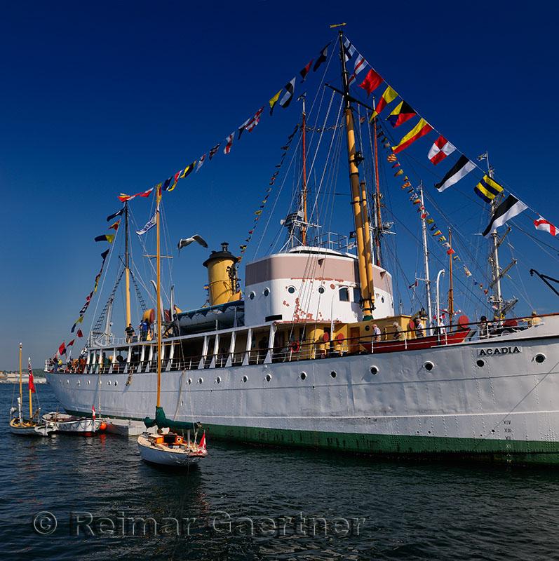 CSS Acadia scientific ship at Halifax Harbour Tall Ships Festival Nova Scotia 2009