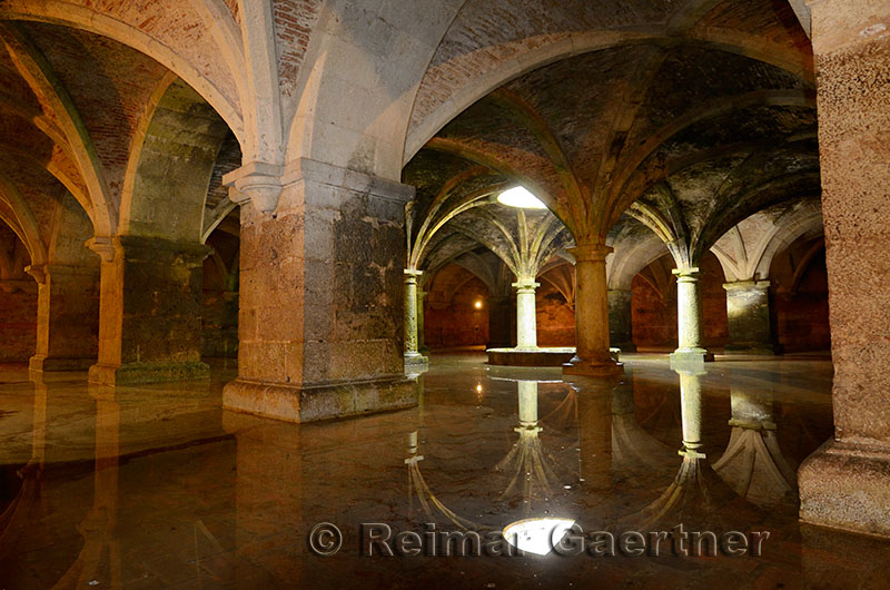 Underground freshwater Portuguese cistern in the old city of El Jadida Morocco