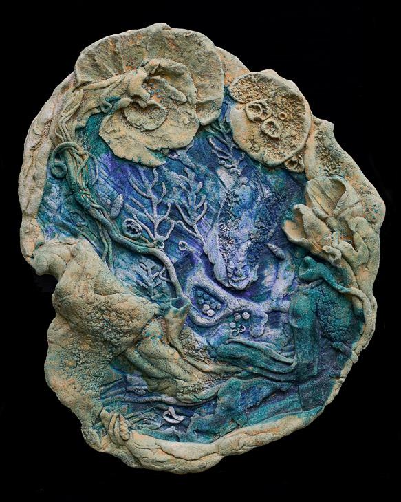 Ceramic scuplture: Tidepool: N.Rich