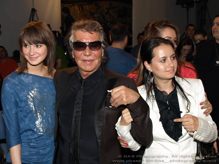 designer Roberto Cavalli and designer Oana Savescu