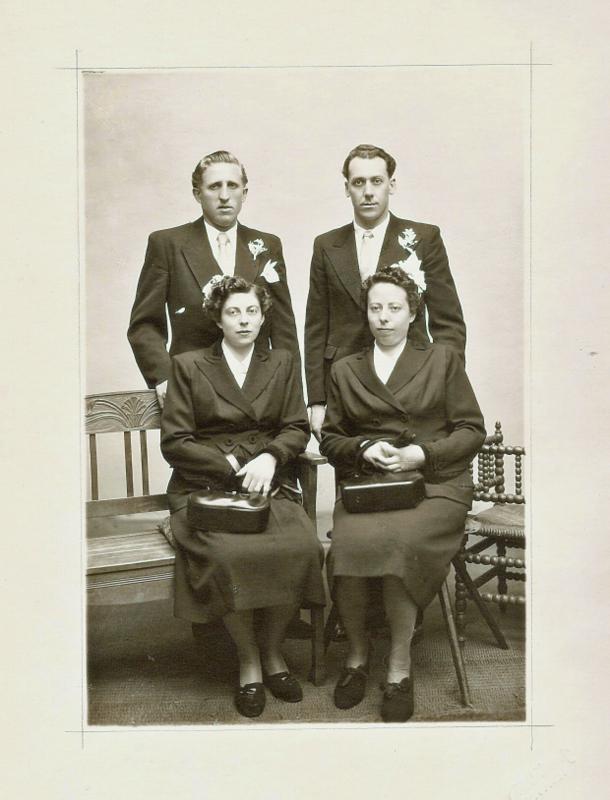 Alice & Arthur  - Marie & Gérard  - april 1949.