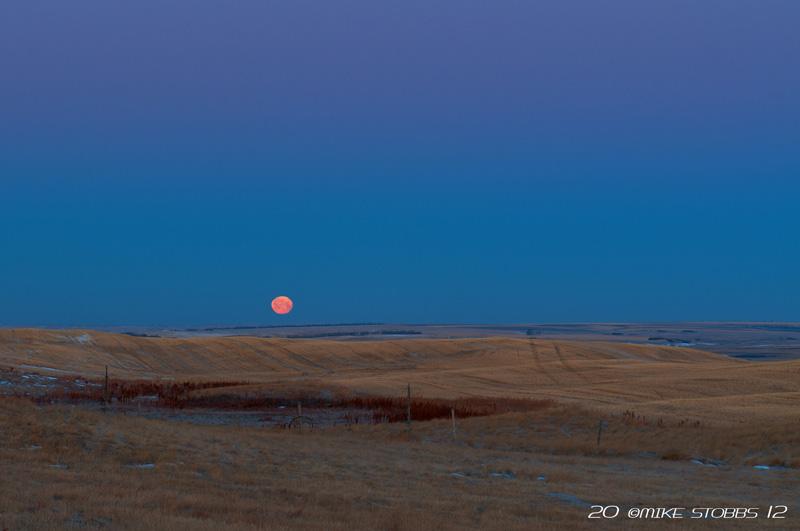 Moonset At Webb SK.