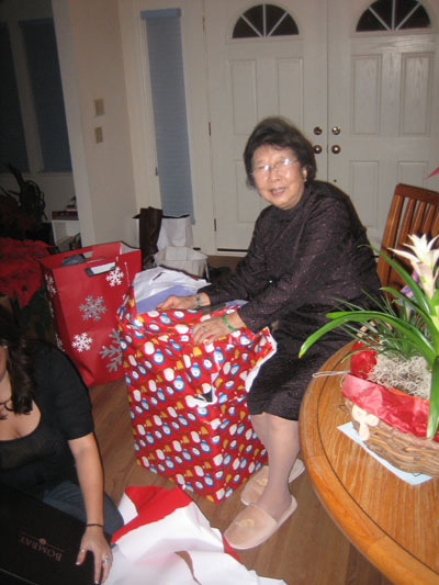 grandma likes the wrapping