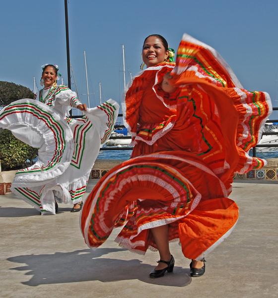 Mexican dancers entertaining the spectators!
